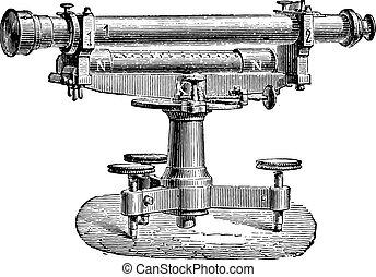 Level Egault, vintage engraving.