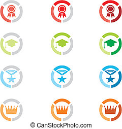 level icons, level badges - suitable for user interface