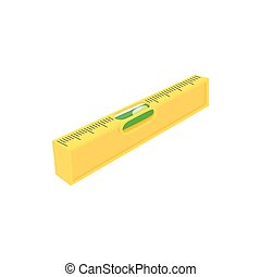 Level measurement icon, cartoon style