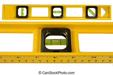 level the precision tool - level on a white background
