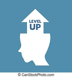 level up head symbol