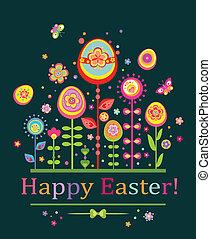 levelezőlap, húsvét, astract