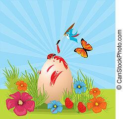 levelezőlap, húsvét