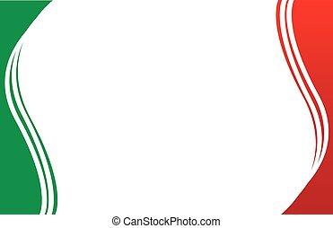 levelezőlap, határ, mexikói, flag2