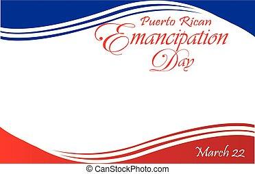 levelezőlap, lobogó, felszabadulás, puerto rico-i, határ, nap