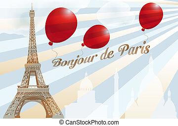 levelezőlap, párizs