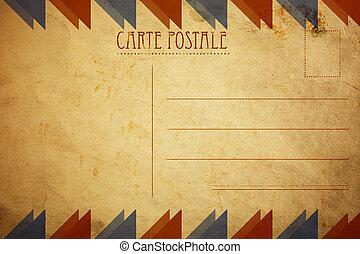 levelezőlap, retro