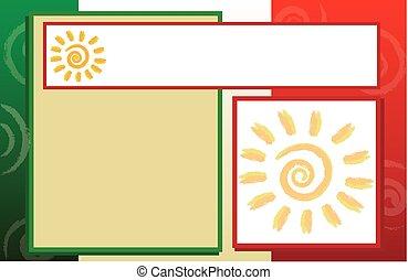 levelezőlap, spanyol, határ, háttér