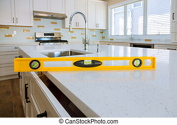 Leveling with countertops a sink in the cabinet home improvement kitchen