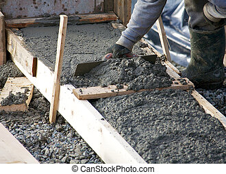 Levelling concrete footings