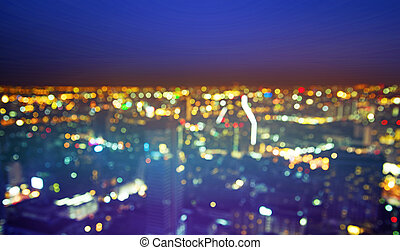 leven, beuatiful, -, nacht, cityscape, europeaan