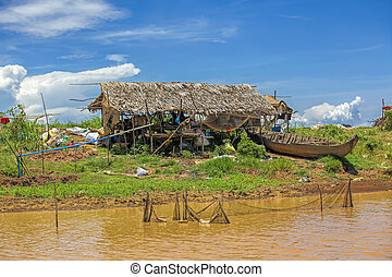 leven, cambodian, alledaags