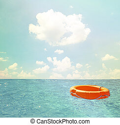 leven, concept, helpen, -, zee, open, zeebaken