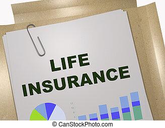 leven, concept, verzekering