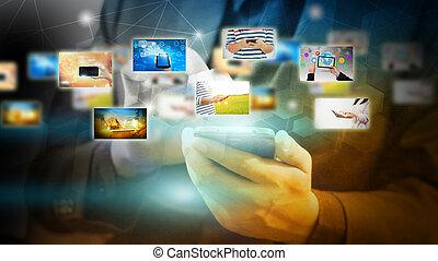 leven, en, moderne technologie