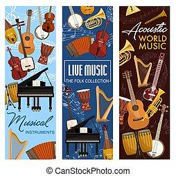 leven, geluid, akoestisch, muziek instrumenten, folk-music