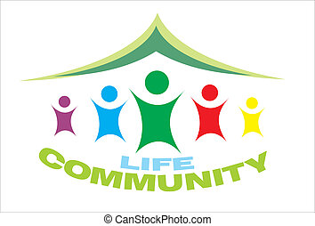 leven, gemeenschap, symbool