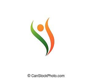 leven, gezonde , vector, mal, logo, pictogram
