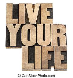 leven, hout, type, leven, jouw