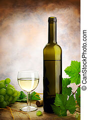 leven, nog, druiven, wijntje