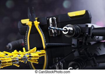 leven, nog, gereedschap, constructor