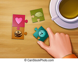 leven, puzzelstukjes