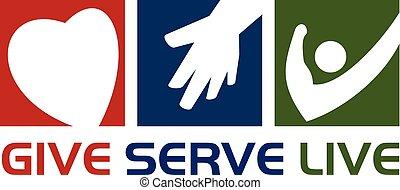 leven, serveren - opdienen, geven