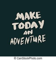 leven, spandoek, positief, quote., typografie, groet, uitnodiging, verstand, calligraphy., inspirational, poster, hand, getrokken, kleding, vibes, lettering., of, kaart, design.