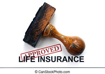 leven, -, verzekering, goedgekeurd