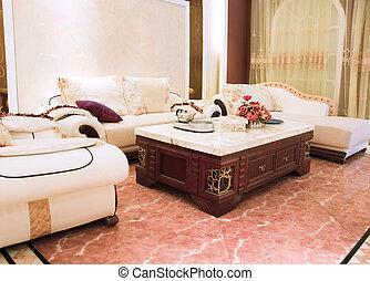 levend, cozy, kamer