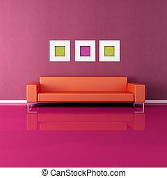 levend, gekleurde, kamer