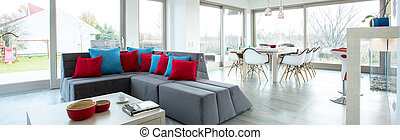 levend, luxe, kamer