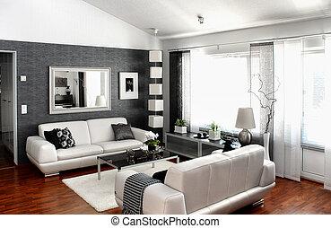 levend, moderne kamer