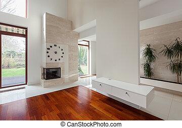 levend, ontworpen, kamer