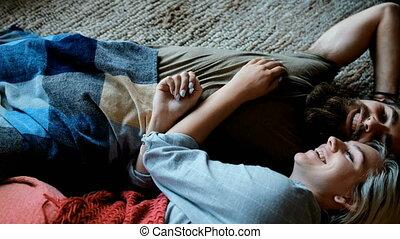 levend, paar, 4k, romancing, kamer