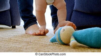 levend, zijn, baby, vader, jongen, 4k, wandeling, portie, ...