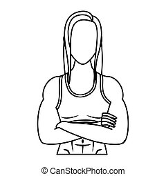 levensstijl, gezonde , atleet, vrouw, sterke, karakter, jonge