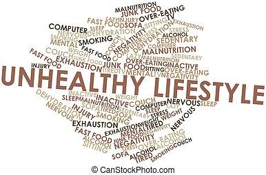 levensstijl, ongezonde
