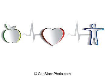 levensstijl, symbolen, gezonde