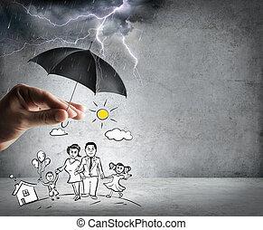 levensverzekering, gezin
