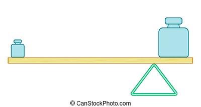 Lever balance illustration - Illustration of the simple...