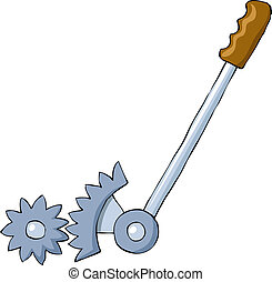 Lever on a white background, vector illustration
