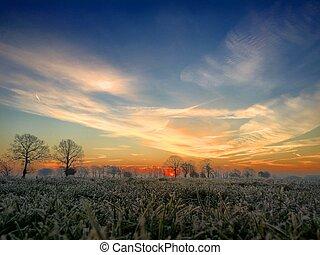 lever soleil coloré