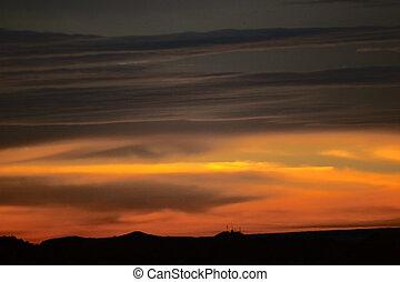 lever soleil orange