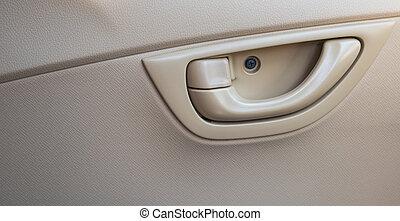 Lever to open the car door