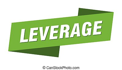leverage banner template. leverage ribbon label sign