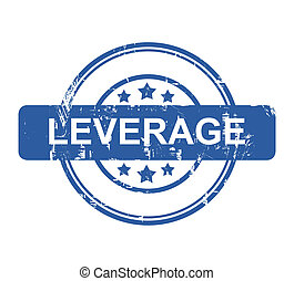 Leverage business concept stamp with stars isolated on a ...