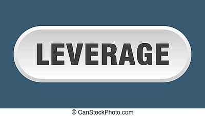 leverage button. rounded sign on white background - leverage...