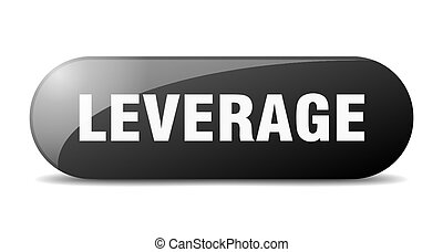 leverage button. sticker. banner. rounded glass sign - ...