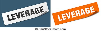 leverage paper peeler sign set. leverage sticker